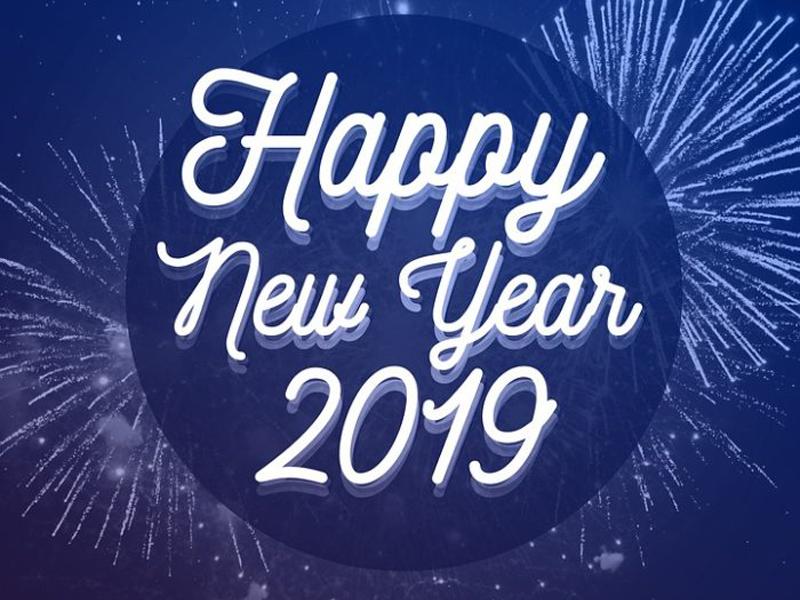 scritta Happy new Year 2019