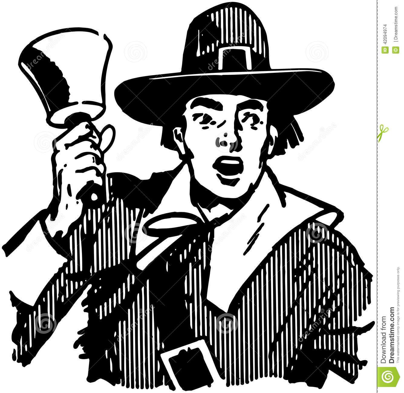 banditore comunale con campanella del 700