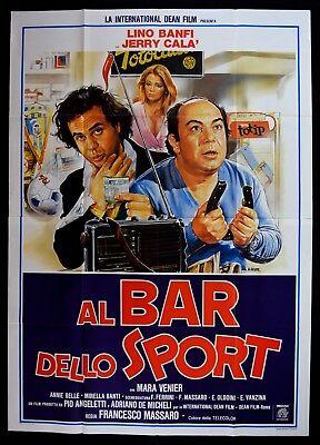 manifesto film al bar dello sport con lino banfi e jerry calà cioè l'incompetenza sale in cattedra